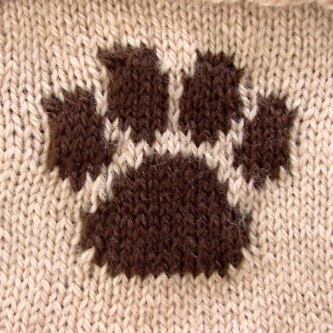 Knitting Pattern With Dog Motif : PAW PRINT KNITTING CHART Free Knitting Projects
