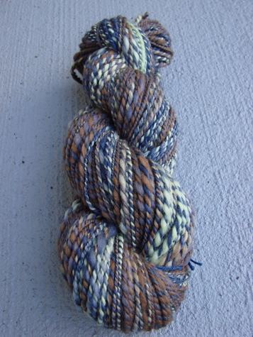 Montrose handspun yarn, vertical view