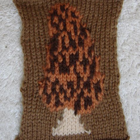 knitted morel mushroom