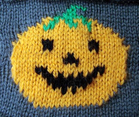 knitted jack-o-lantern chart