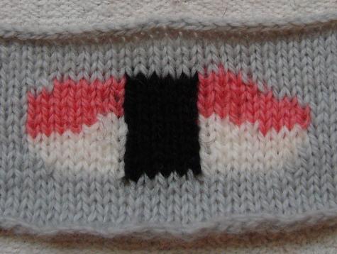 knitted sushi (nigiri)
