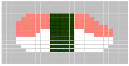 nigiri sushi knitting chart for intarsia